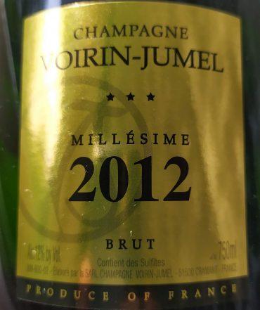 New stocks Champagne Voirin-Jumel arrive.